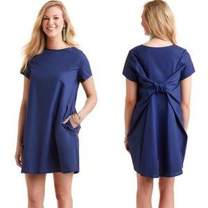 Vineyard Vines Short Sleeve Bow-Back Dress